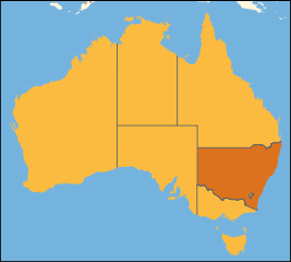Australia location New South Wales