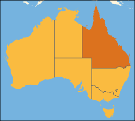 Australia location Queensland