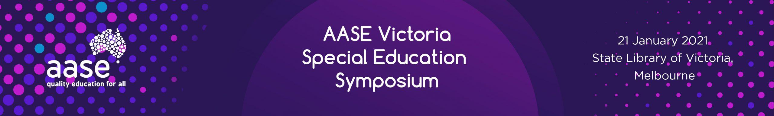 Special Education Symposium Banner