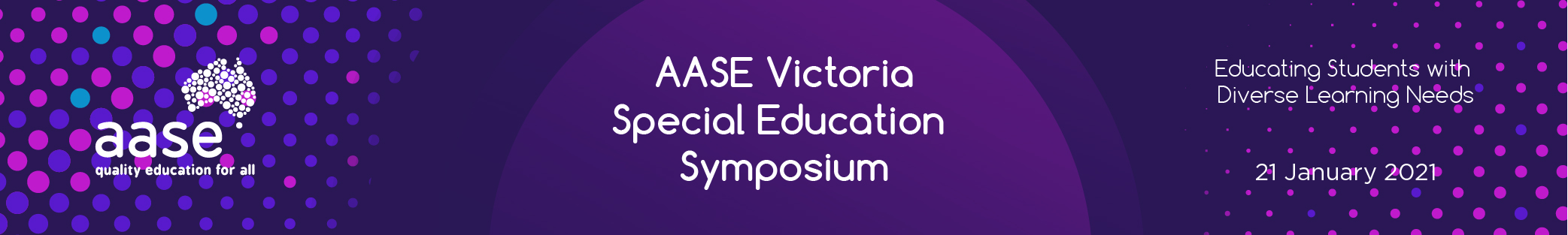 AASE Victoria Special Education Symposium 2021 - Web Banner_virtual-1000x150px